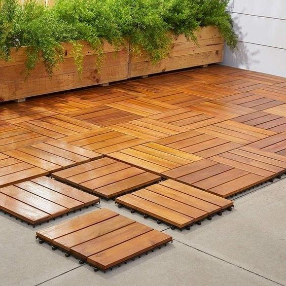 Acacia Decking Tiles